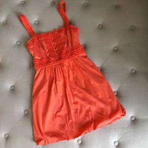 BCBG Maxazria orange bubble dress